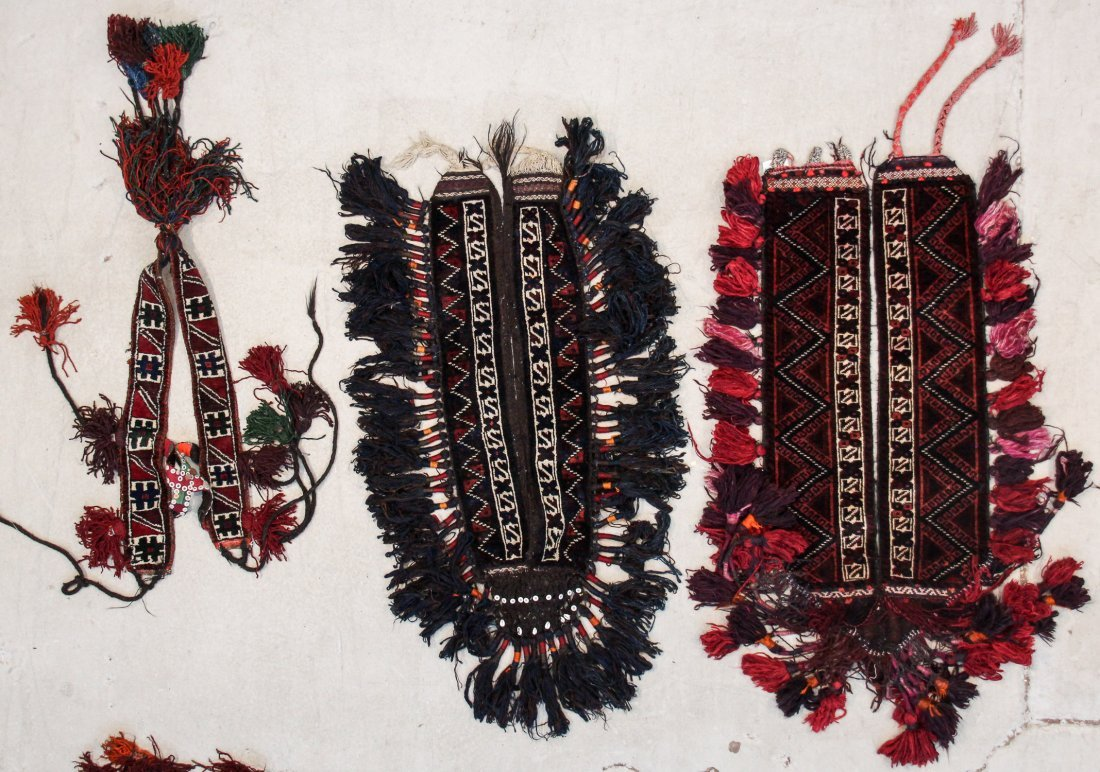 6 Vintage Central Asian Trappings - 2