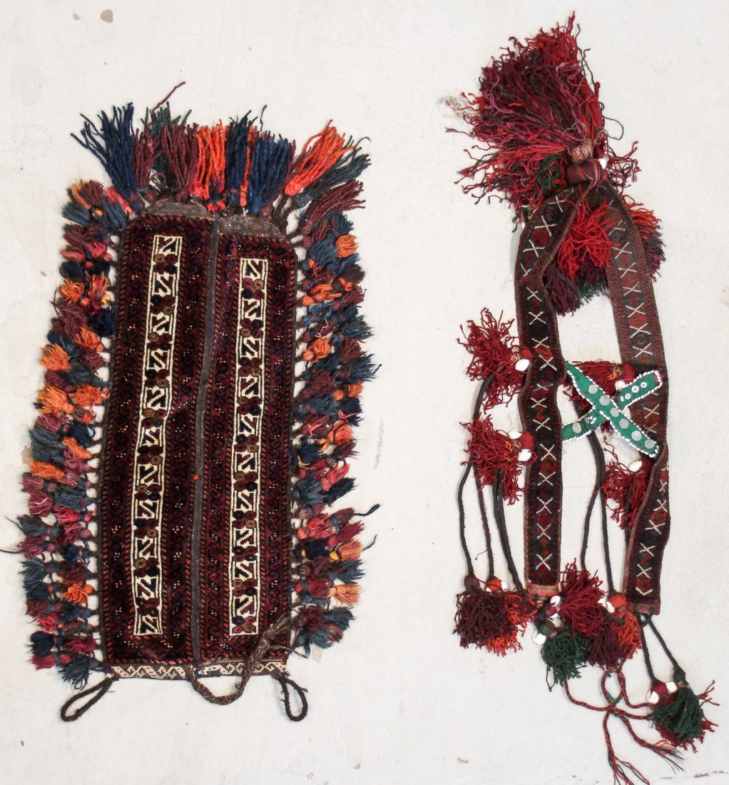 6 Vintage Central Asian Trappings - 3