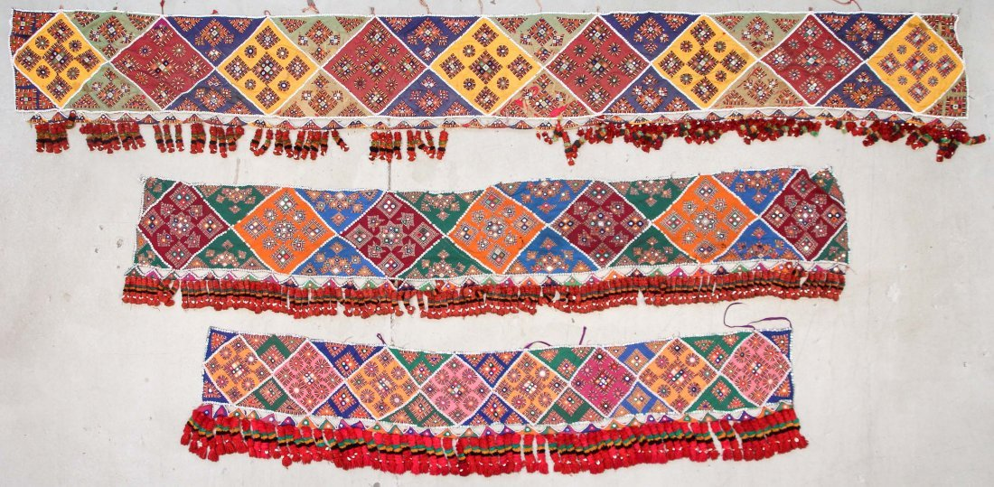3 Old Sind Area Embroidered Hangings
