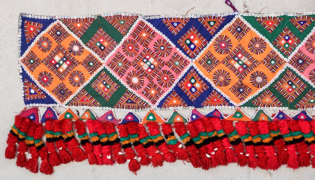 3 Old Sind Area Embroidered Hangings - 2