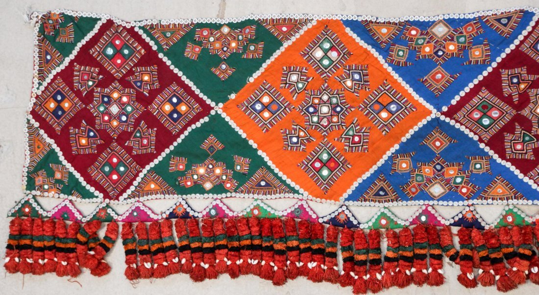 3 Old Sind Area Embroidered Hangings - 3