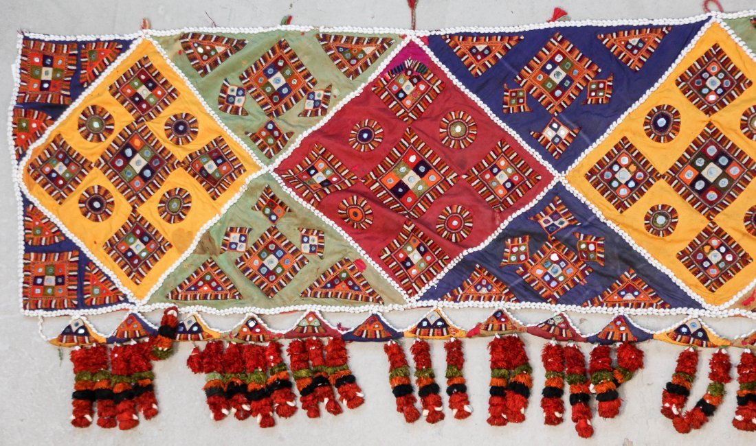 3 Old Sind Area Embroidered Hangings - 4