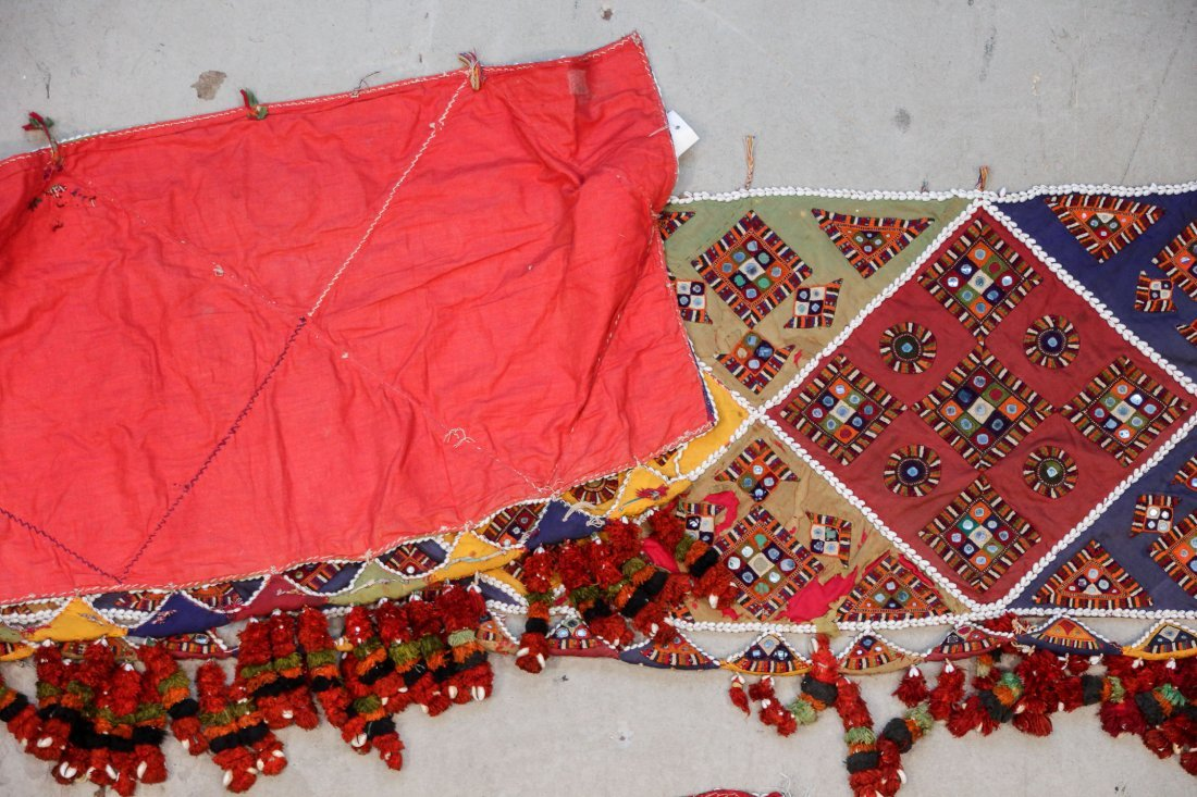 3 Old Sind Area Embroidered Hangings - 7