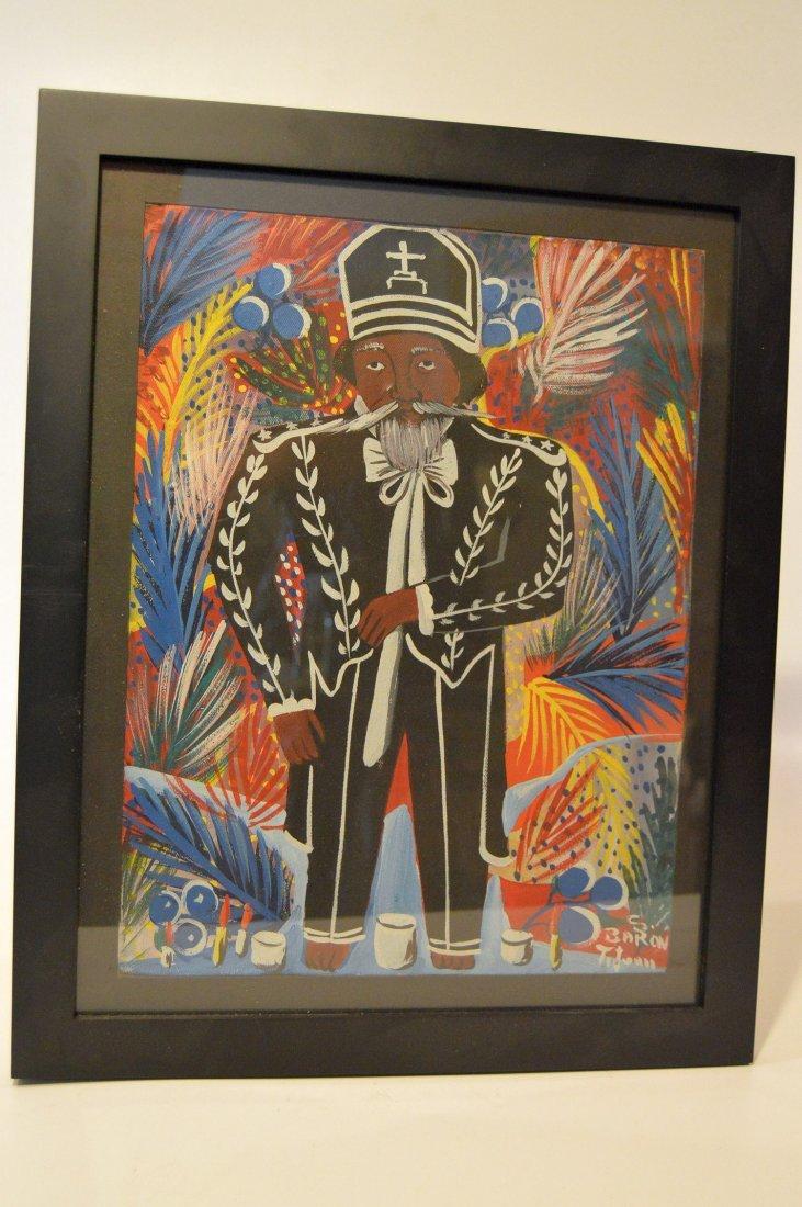 Haitian Painting of Voodou Loa Baron Samedi