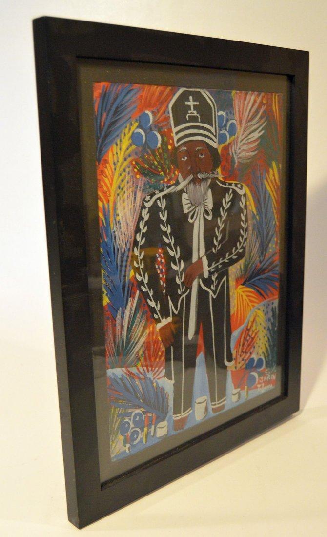 Haitian Painting of Voodou Loa Baron Samedi - 2