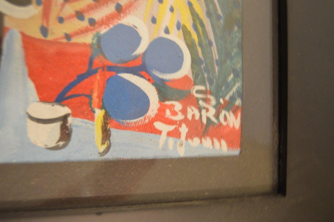 Haitian Painting of Voodou Loa Baron Samedi - 3