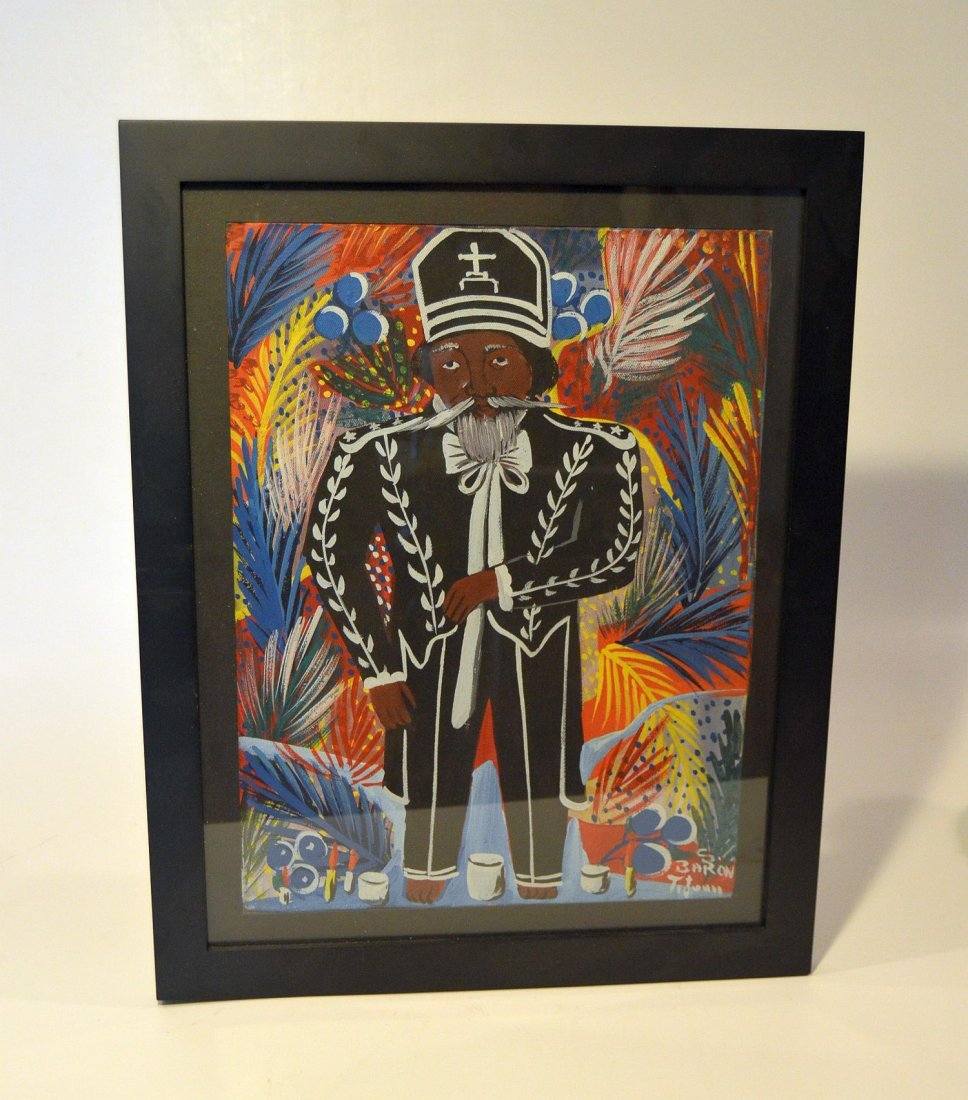 Haitian Painting of Voodou Loa Baron Samedi - 4