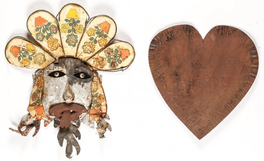 2 Folk Art Tin Works