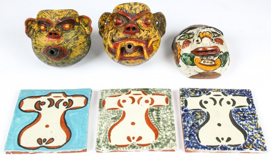 6  Mexican Terracotta Artifacts.