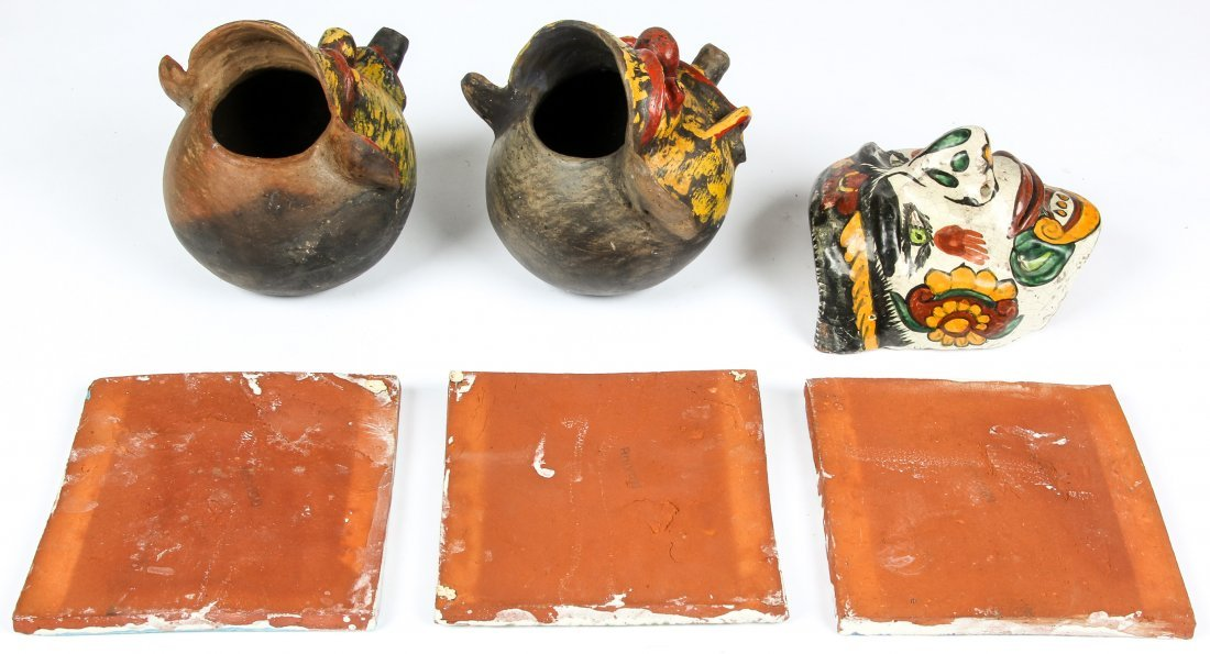 6  Mexican Terracotta Artifacts. - 2