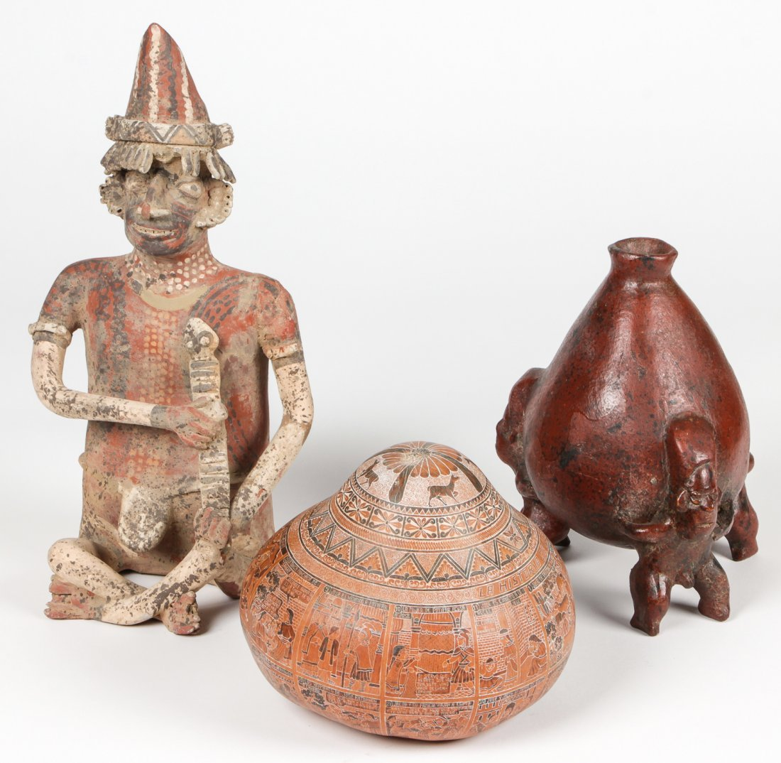 3 Pre Columbian Style Reproduction Artifacts