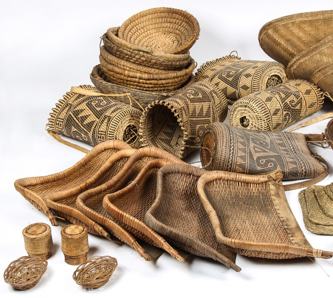 Collection of Various Ethnographic Baskets - 2