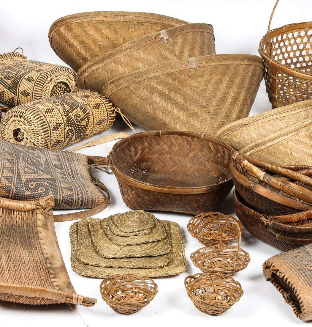 Collection of Various Ethnographic Baskets - 3