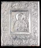 Henryk Winograd Pure Silver Russian Icon of Christ