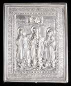 Henryk Winograd Pure Silver Russian Icon depicting St.