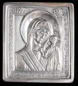 Henryk Winograd Pure Silver Russian Icon depicting