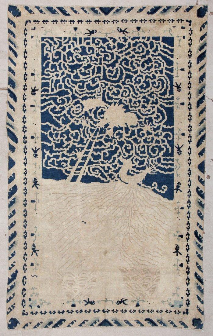 Antique Chinese Dragon Rug: 4'2'' x 6'8'' (127 x 203