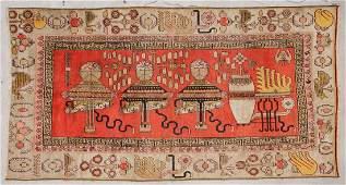 Antique Khotan Rug: 6'4'' x 11'9'' (193 x 358 cm)