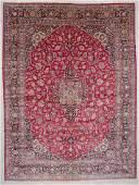 Semi-Antique Kashan Kork Wool Rug: 10'4'' x 14'0'' (314