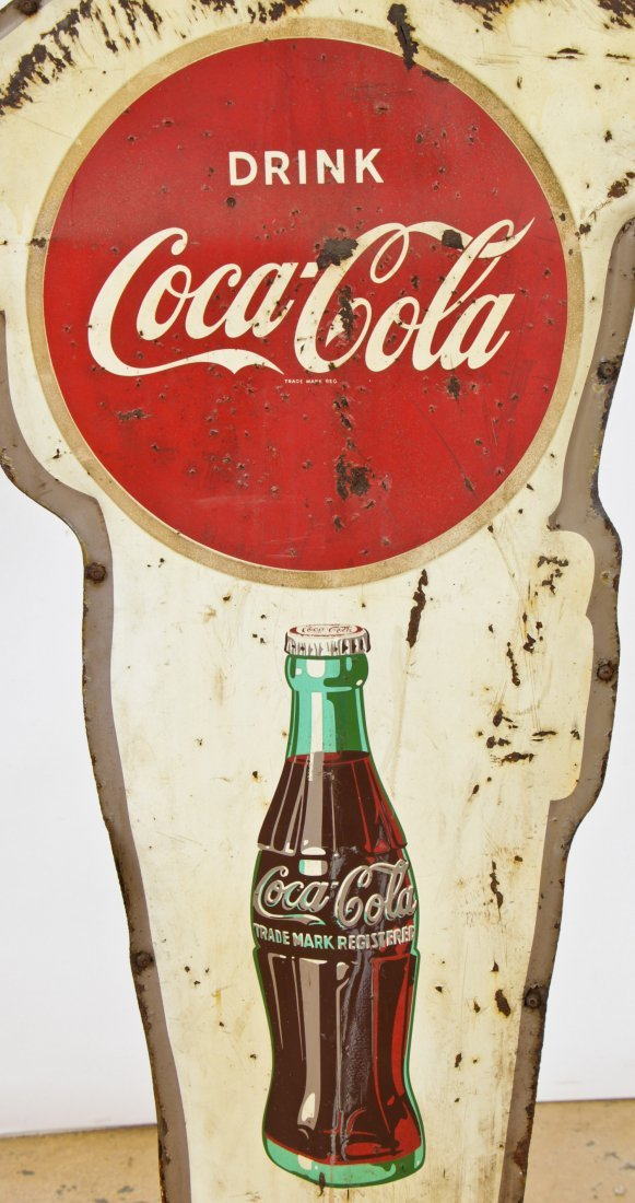 Vintage Coca Cola Police Man Sign - 6