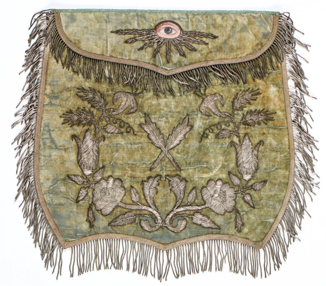 2 Antique Masonic Aprons - 4