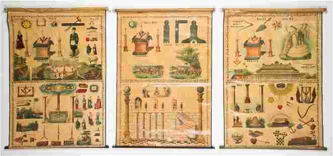 3 Sherer Masonic Mnemonic Charts