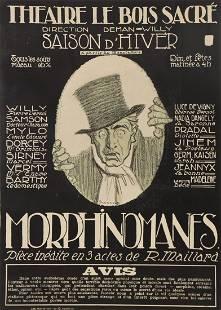 Vintage French Poster: Theatre Le Bois Sacre