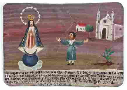 1940's Mexican Ex Voto
