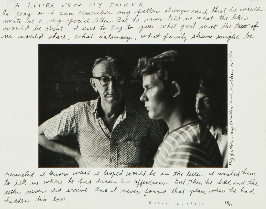 """Duane Michals (American, b. 1932) """"A Letter From My"""