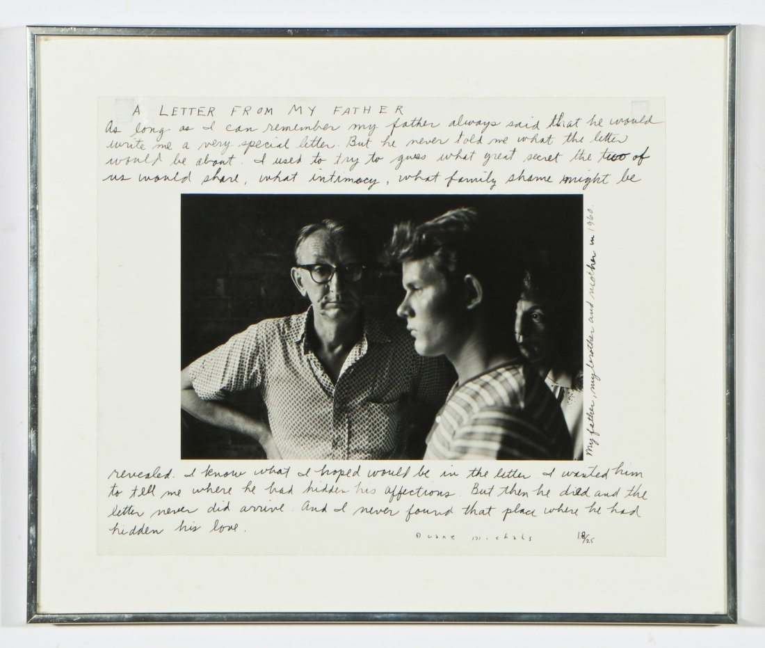 """Duane Michals (American, b. 1932) """"A Letter From My - 2"""