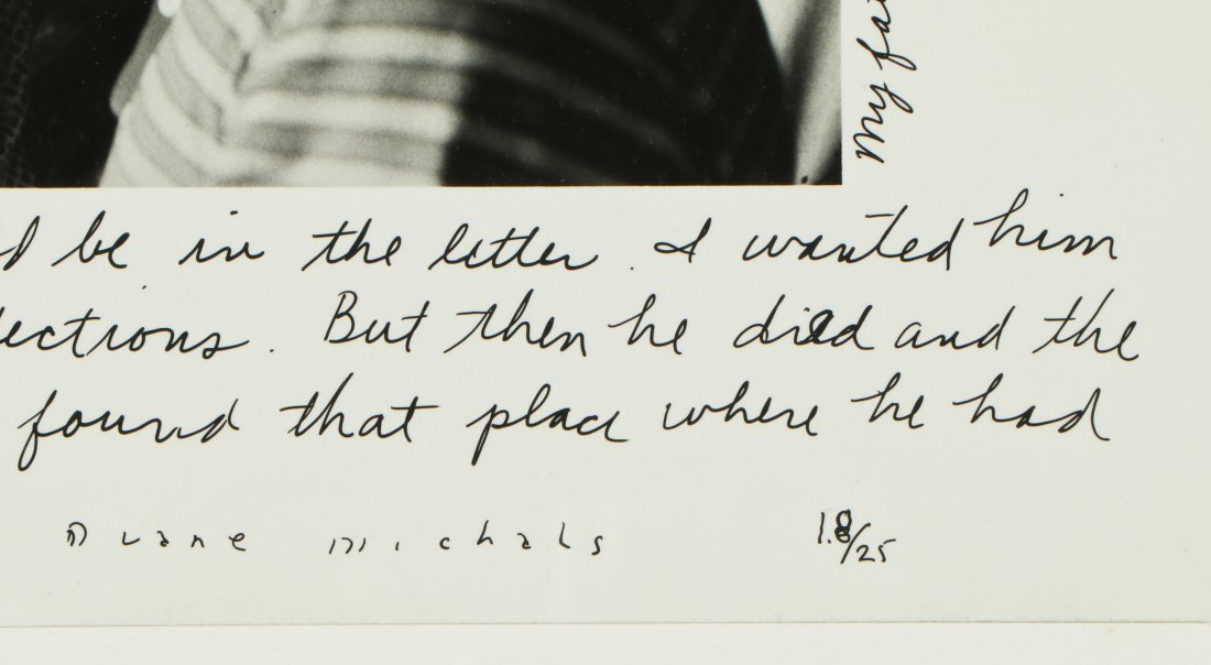 """Duane Michals (American, b. 1932) """"A Letter From My - 3"""