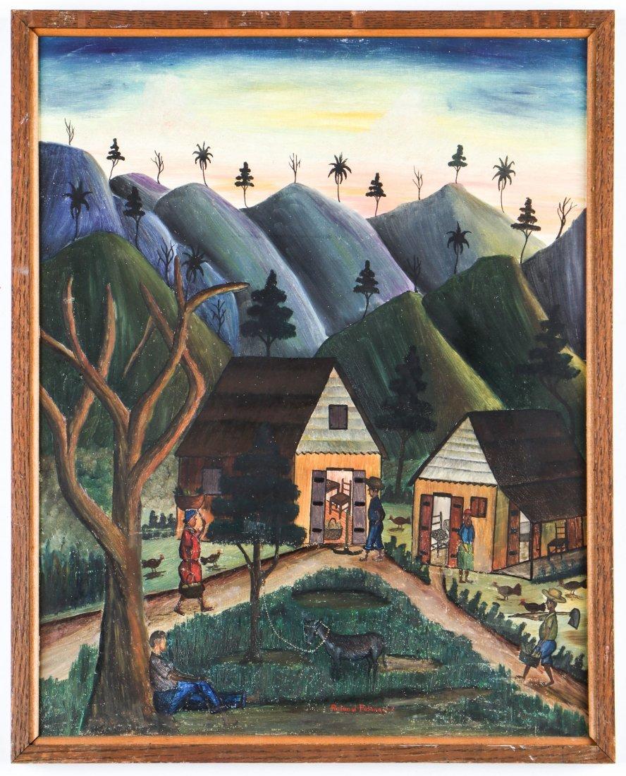 Roland Palanquet (Haitian, 20th c.) Village Scene - 2