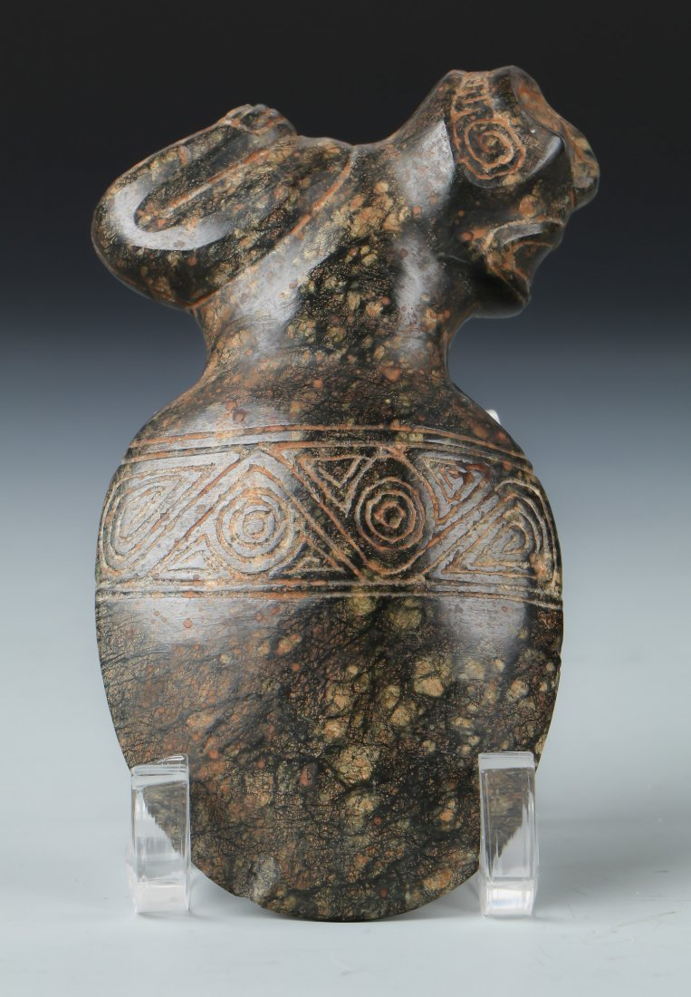 Taino Reclining Figure Atop an Ax Form (1000-1500 CE) - 2
