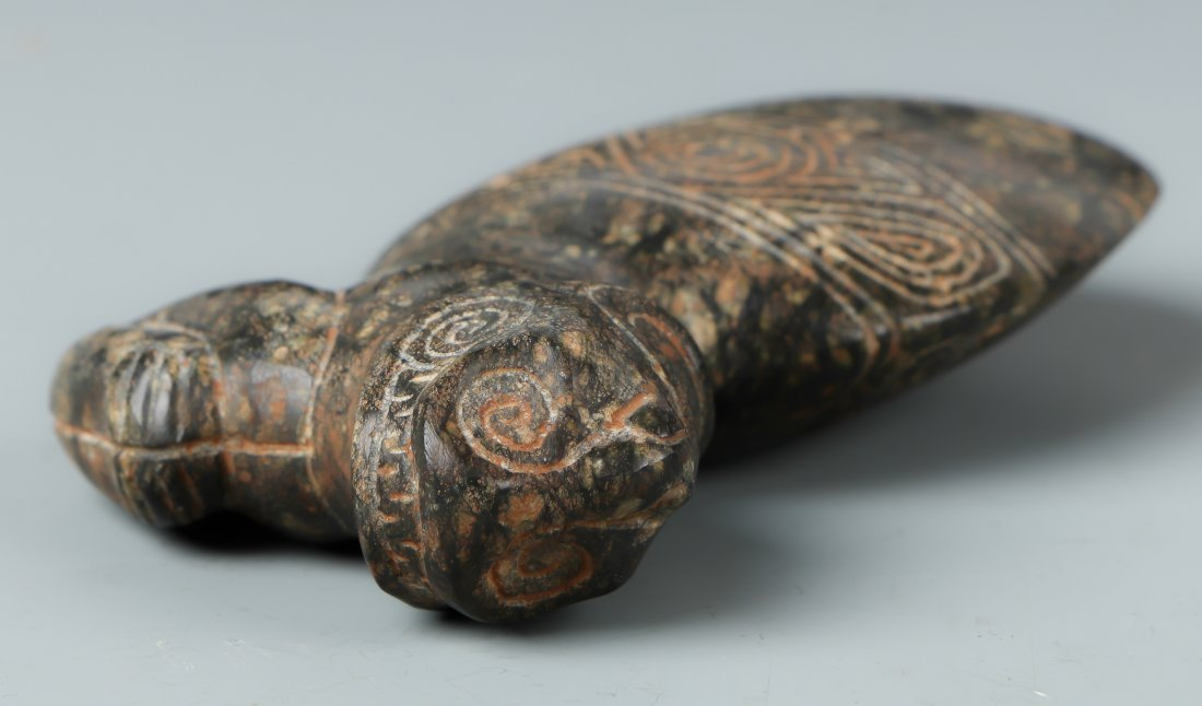 Taino Reclining Figure Atop an Ax Form (1000-1500 CE) - 3