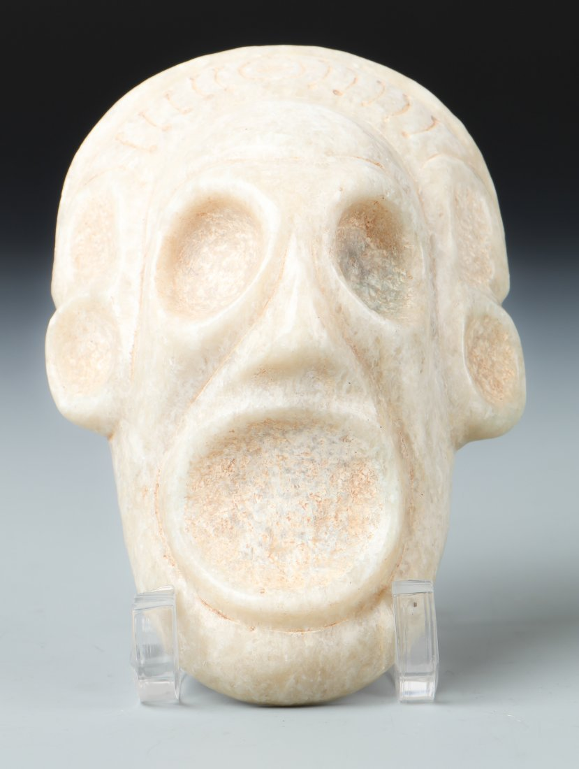 Exquisite Taino Marble Mask (1000-1500 CE)