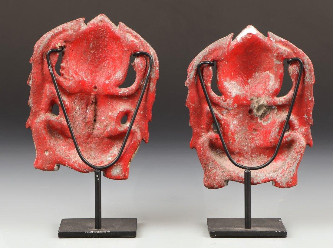 Pair of Antique Thai Temple Ornaments - 2