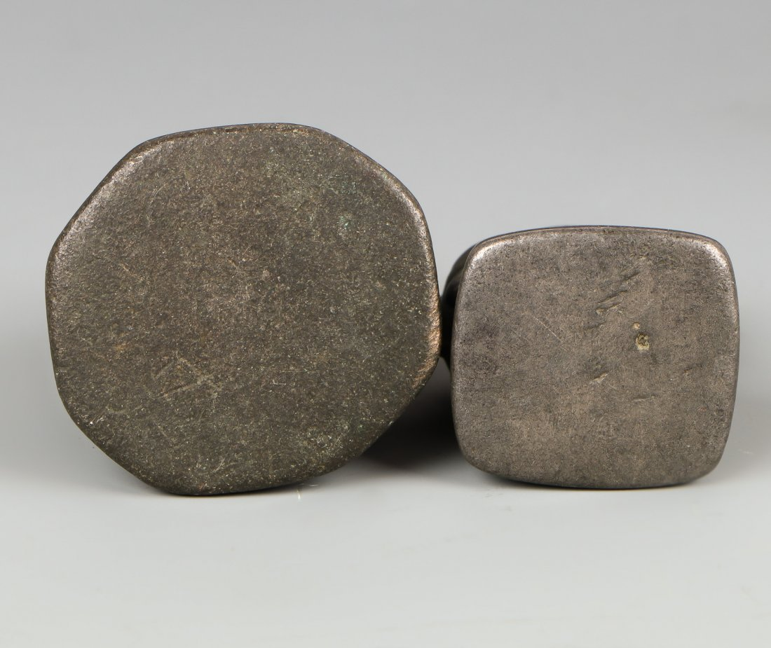 Two Antique Beast Opium Weights - 3