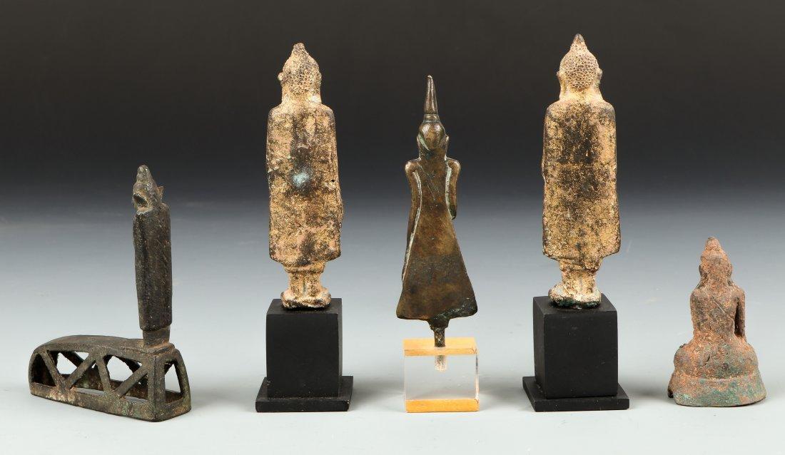 5 Antique Thai and Burmese Buddhas - 2