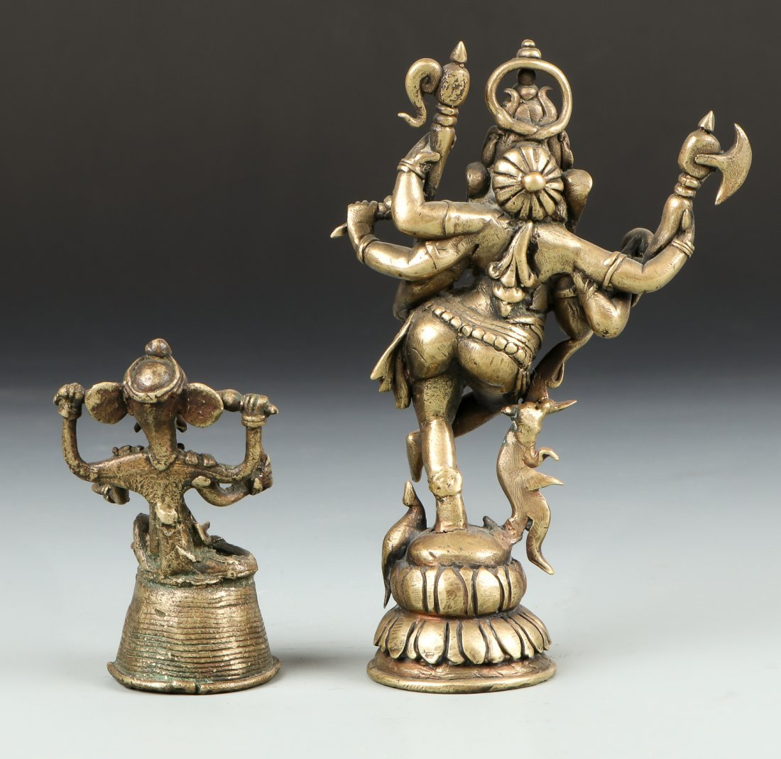 Two Old Bronze Ganesh Statues from Bangladesh - 2