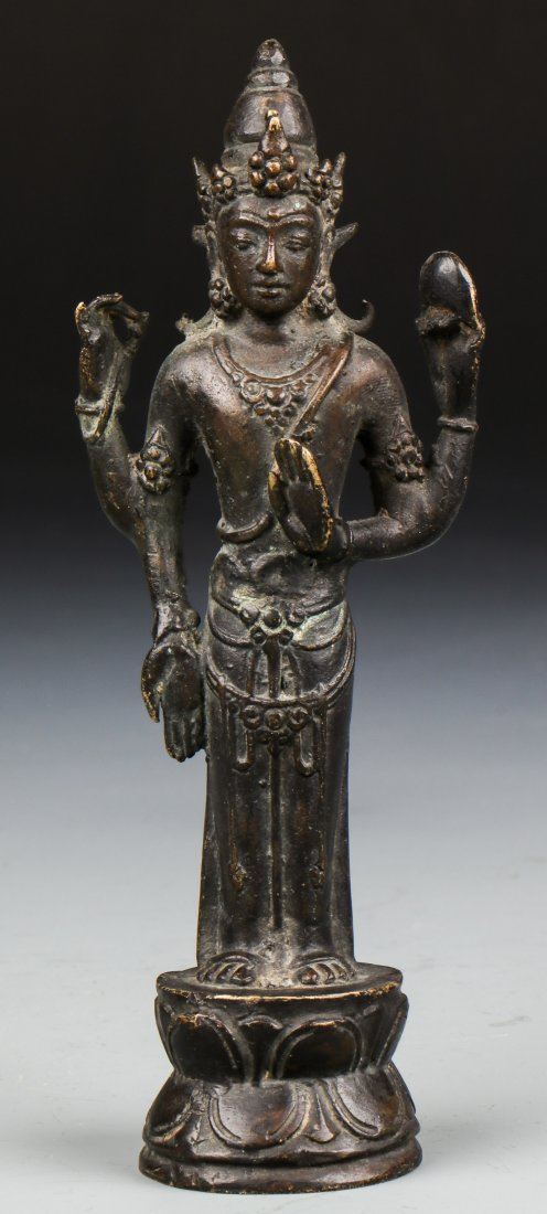 Chinese Qing Dynasty Buddhistic Bronze Figure