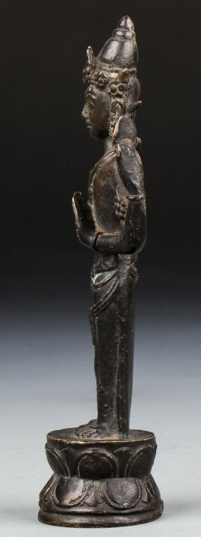Chinese Qing Dynasty Buddhistic Bronze Figure - 2
