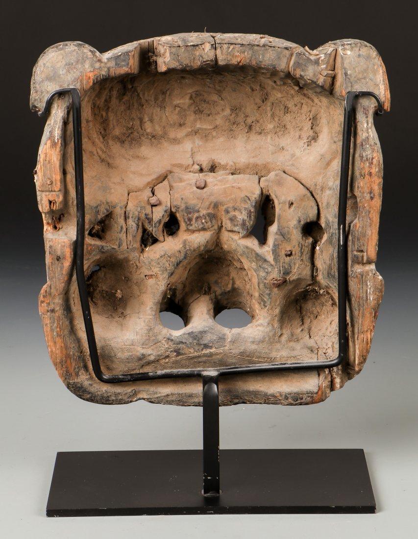 Antique Sino-Tibetan Polychrome Mask - 3
