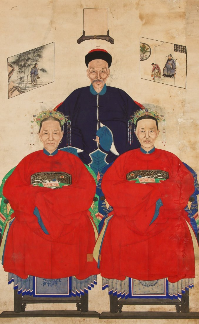 19th C. Chinese Ancestor painting - 2