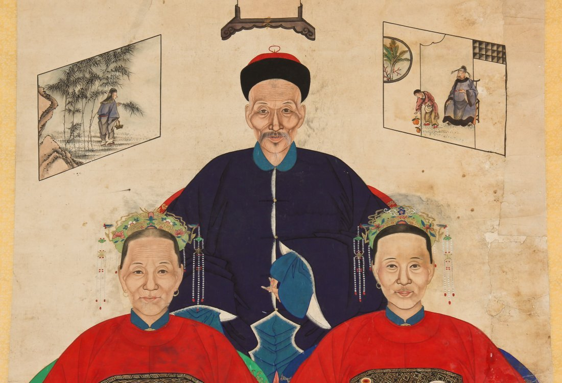 19th C. Chinese Ancestor painting - 5
