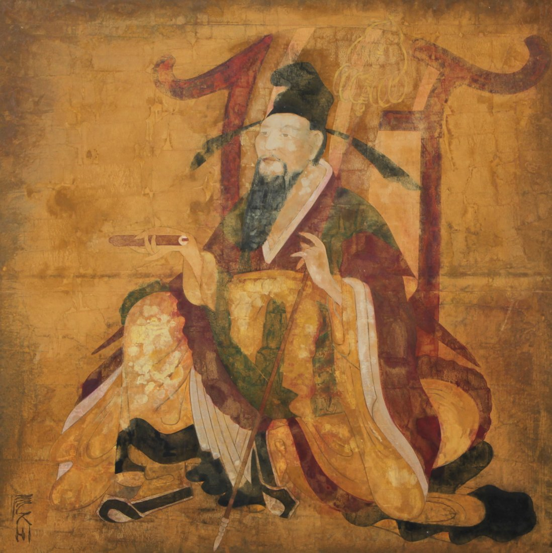 Large Scale Korean Dynastic Style Painting