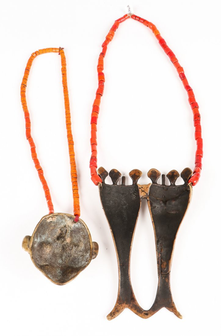 2 Naga Beaded Head Hunter Necklaces - 4