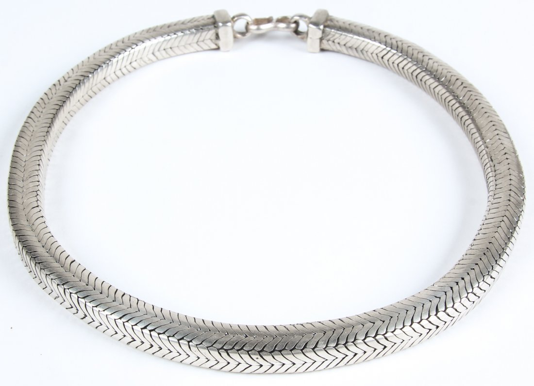 Heavy Silver Snake Chain Necklace