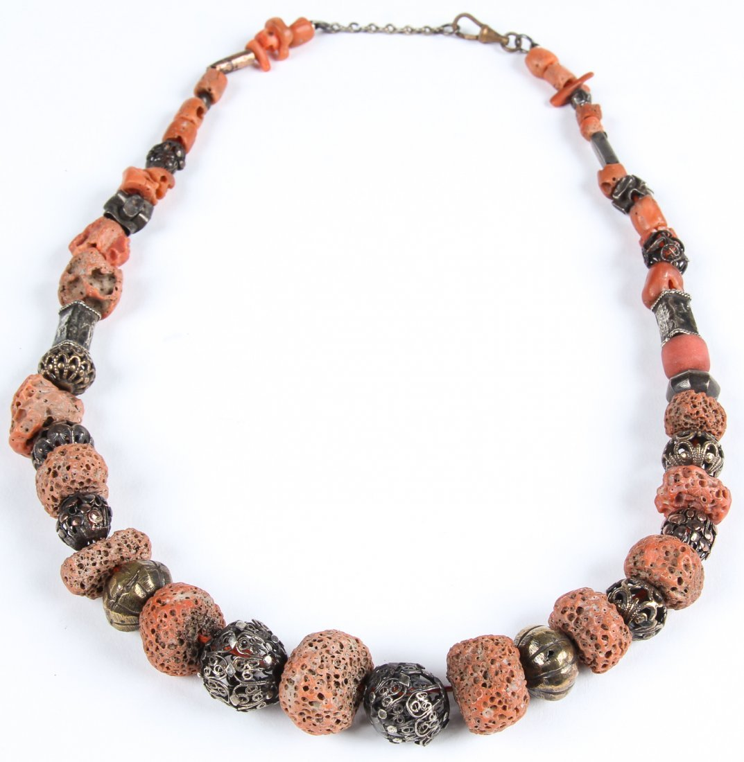 2 Strands of Coral Bead Necklaces - 6