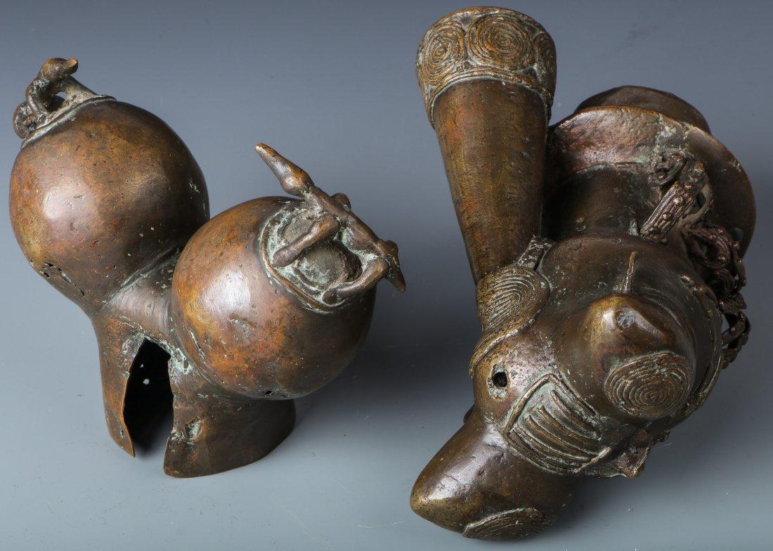 Bamileke Bronze Pipe Bowl - 2