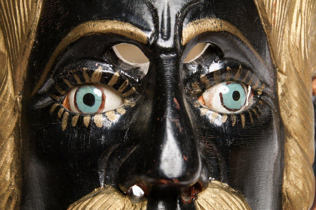 2 Vintage Mexican Festival Masks - 7
